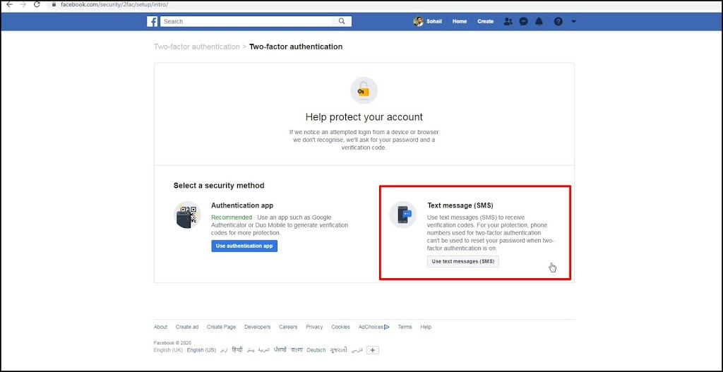How to Turn on Facebook Two Factor Authentication in 2020