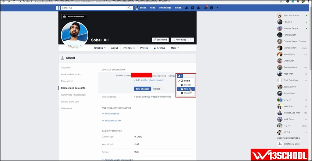 How to Remove and hide Phone Number from Facebook 2020