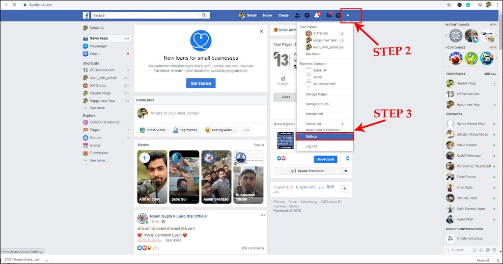 pc settings how to deactivate or Delete your Facebook account on pc