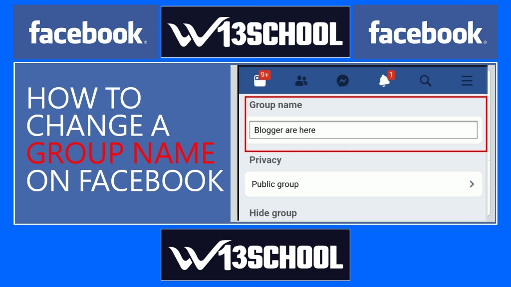 how to change a group name on Facebook