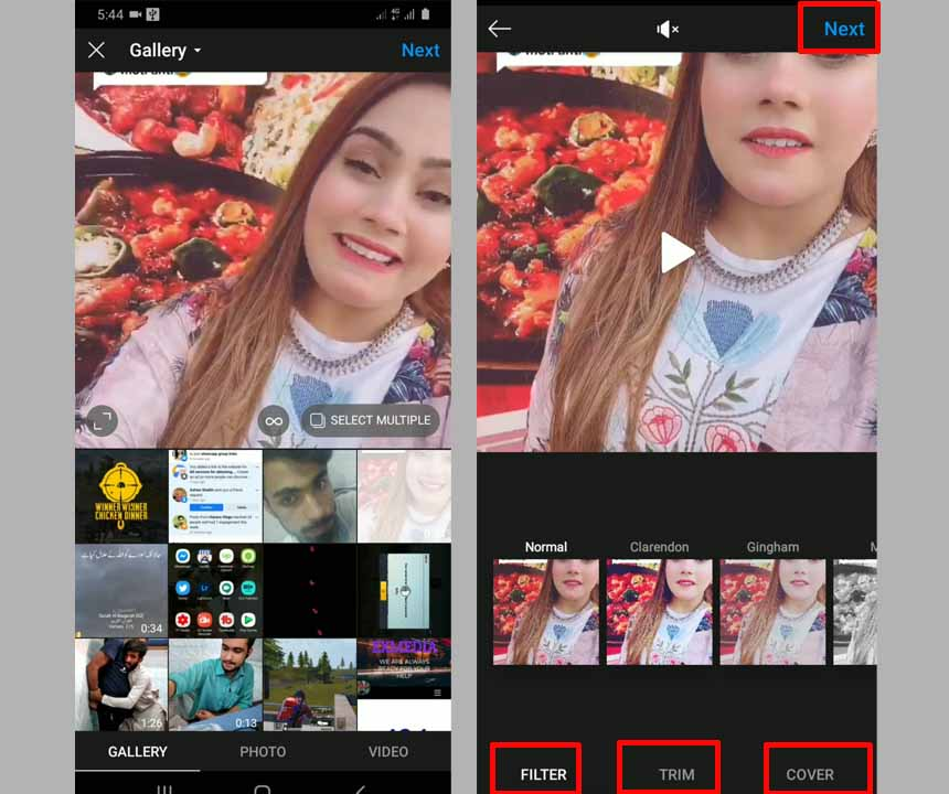 latest update How to upload video to Instagram